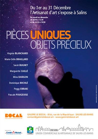 Pieces uniques - Exposition Le Bocal décembre 2018